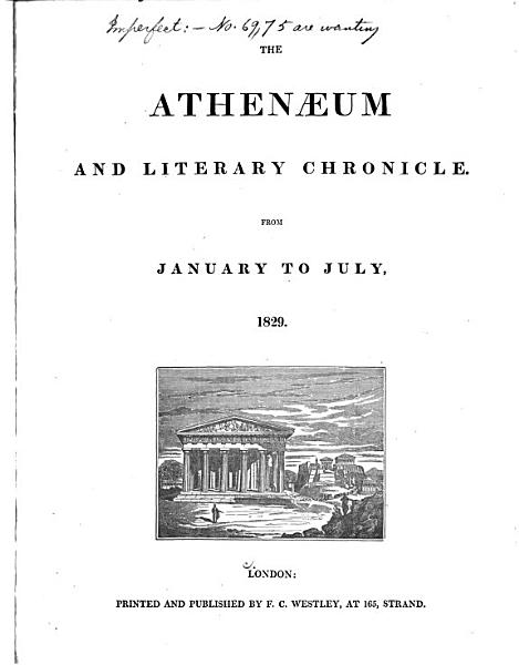 Download The Athenaeum and Literary Chronicle Book