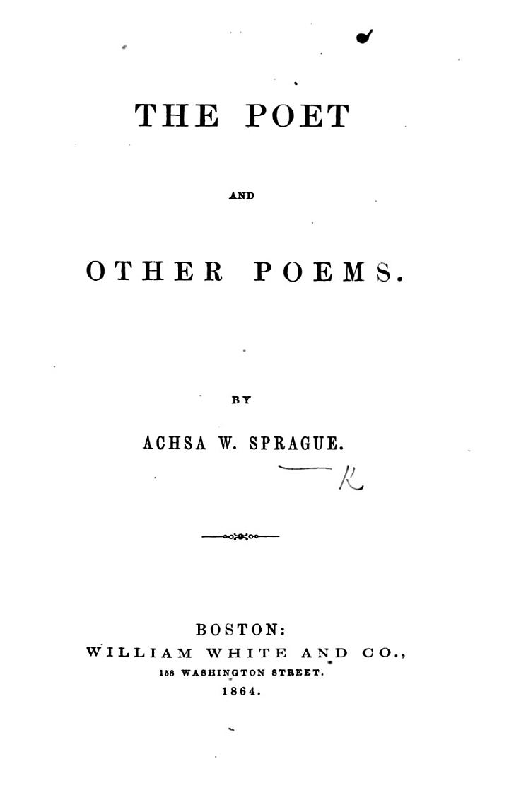 The Poet and Other Poems