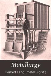 Metallurgy: Volume 1
