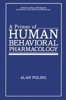 A Primer of Human Behavioral Pharmacology PDF