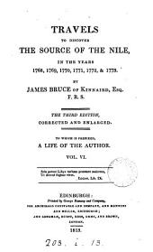 Travels to Discover the Source of the Nile: In the Years 1768, 1769, 1770, 1771, 1772, & 1773, Volume 6