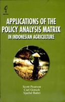 Applications of the Policy Analysis Matrix in Indonesian Agriculture PDF