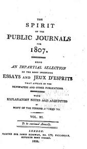 Spirit of the Public Journals: Volume 11
