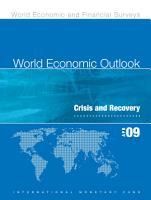 World Economic Outlook  April 2009 PDF