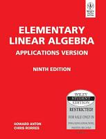 ELEMENTARY LINEAR ALGEBRA APPLICATIONS VERSION  9TH ED PDF