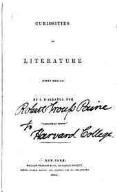 Curiosities of Literature: First series
