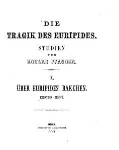 Die Tragik des Euripides     PDF