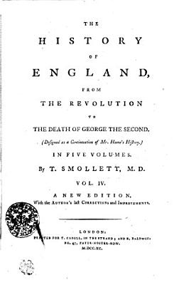 The History Of England  From The Revolution To The Death Of Georg The Second
