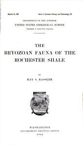 The Bryozoan Fauna of the Rochester Shale
