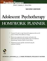 Adolescent Psychotherapy Homework Planner PDF