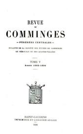 Revue de Comminges: Volumes 5 à 6