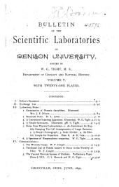 Journal of the Scientific Laboratories of Denison University: Volume 5