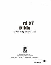 Word 97 Bible PDF