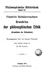 Grundriss der philosophischen Ethik (Grundlinien der Sittenlehre)