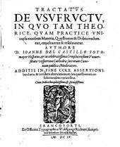 Tractatus de Usufructu