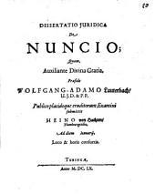 Dissertatio Iuridica De Nuncio