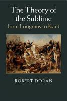 The Theory of the Sublime from Longinus to Kant PDF