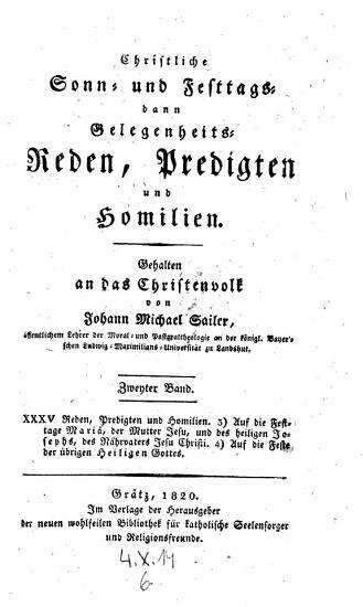Christliche Reden ans Christenvolk  Zweyter Band PDF