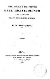 Dell'indole e dei fattori dell'incivilimento con esempio del suo risorgimento in Italia