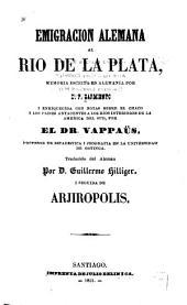 Emigracion alemana al Rio de la Plata