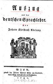Auszug aus der deutschen Sprachlehre