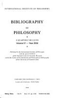 Bibliographie de la philosophie PDF