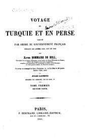 Voyage en Turquie et en Perse exécuté par ordre du gouvernement français: Volume1,Numéro2