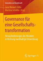 Governance f  r eine Gesellschaftstransformation PDF