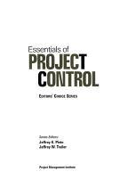 Essentials of Project Control PDF
