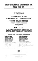 Second Supplemental Appropriations for Fiscal Year 1976 PDF