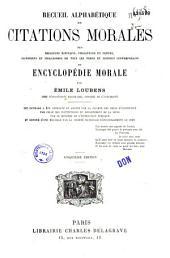Recueil alphabétique de citations morales... ou encyclopédie morale