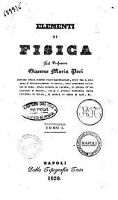 Elementi di fisica Giacomo Maria Paci: 1