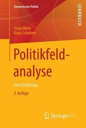 Politikfeldanalyse: Eine Einführung, Ausgabe 3