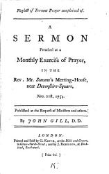 Neglect Of Fervent Prayer Complained Of Book PDF