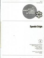 1977 Survey Of Minority Owned Business Enterprises Book PDF