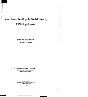 Some Basic Readings in Social Security PDF