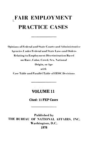 Fair Employment Practice Cases PDF