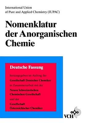 Nomenklatur der Anorganischen Chemie PDF