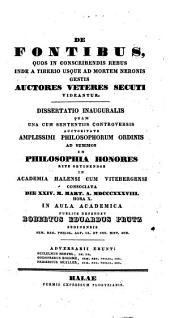 De fontibus, quos in conscribendis rebus inde a Tiberio usque ad mortem Neronis gestis auctores veteres secuti videantur