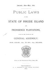 Public Laws of the State of Rhode Island and Providence Plantations: Passed Since the Session of the General Assembly