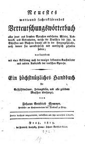 Neuestes wort- und sacherklärendes Verteutschungswörterbuch