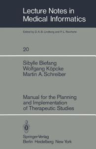 Manual for the Planning and Implementation of Therapeutic Studies PDF