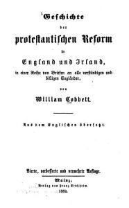 Geschichte der protestantischen Reform in England und Irland PDF