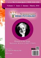 The International Journal of Indian Psychology  Volume 3  Issue 2  No  9 PDF