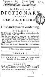 Dictionarium Botanicum
