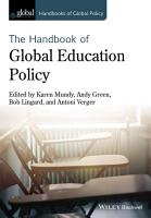 Handbook of Global Education Policy PDF