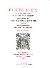 Plutarch's Lives of the Noble Grecians and Romans: Volume 2