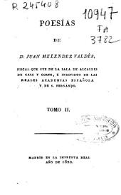 Poesías de Juan Melendez Valdés: Volumen 2