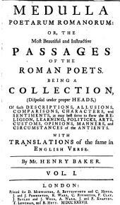 Medulla poetarum romanorum, The most beautiful and instructive passages of the Roman poets: Volume 1