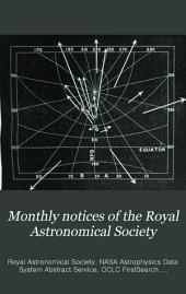 Monthly Notices of the Royal Astronomical Society: Volume 42
